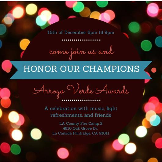 Invitation to the 2014 Arroyo Verde Awards