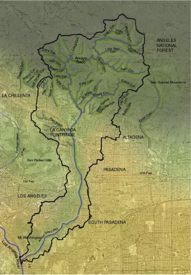 Arroyo Seco Watershed Map
