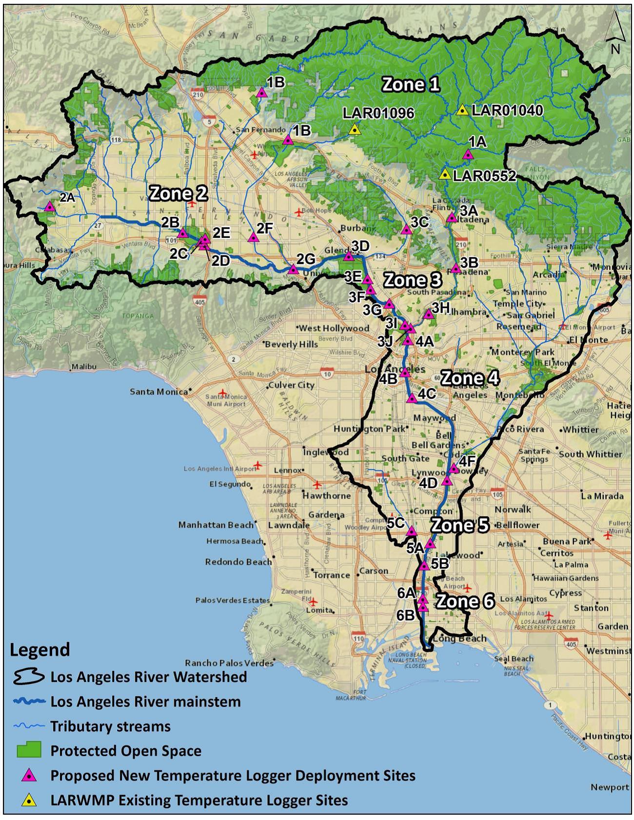 Arroyo Currents April - Los angeles river kayak map