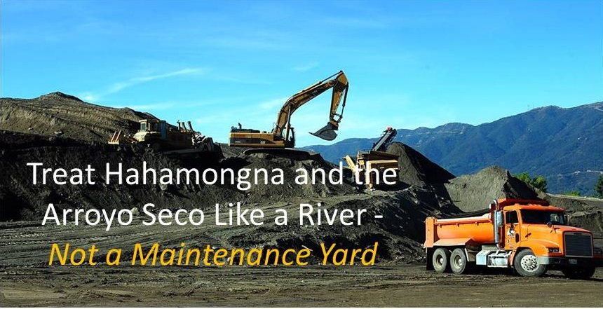 A River Not a Maintenance Yard