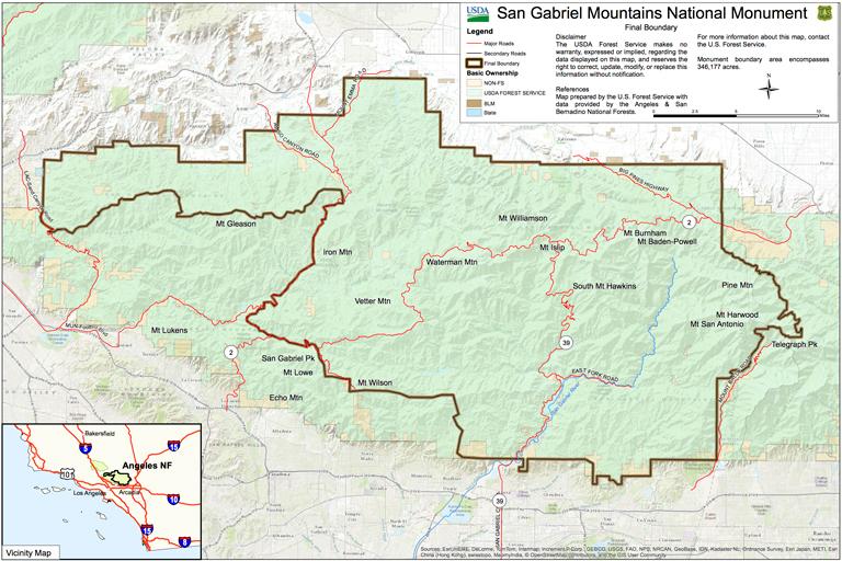 San Gabriel Mountain National Monument
