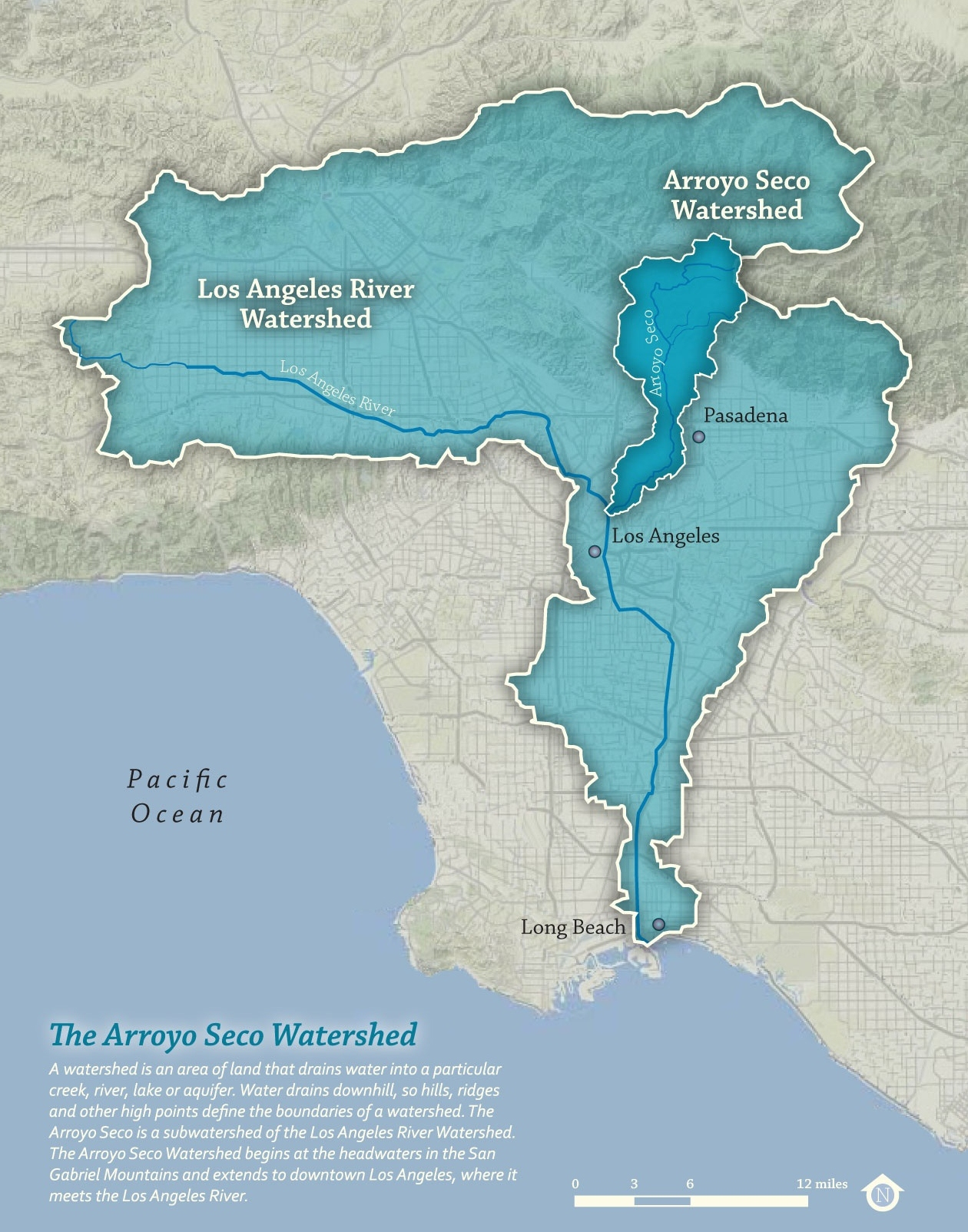 Arroyo Seco Subwatershed Within L.A. River Watershed
